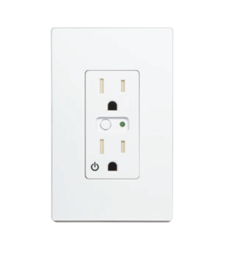 WO15EMZ5-1: Z-Wave GoControl Single Wall Outlet