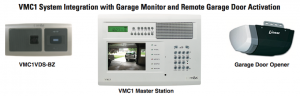 VMC1 System Integration with Garage Monitor and Remote Garage Door Activation