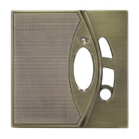 DMC-10PFAB-4: Patio Station Faceplates (4-pack) (Antique Brass)