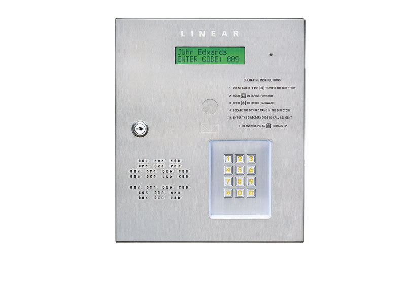 AE-500 linear telephone entry and access control systems